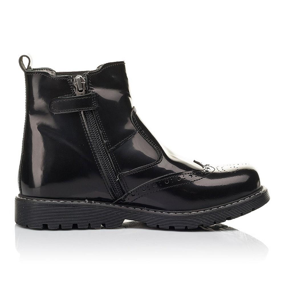 Детские демисезонные ботинки Woopy Fashion черные для девочек натуральная кожа размер 32-36 (4460) Фото 5