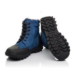 Детские зимние ботинки на меху Woopy Fashion синие для мальчиков натуральный нубук размер 23-30 (4461) Фото 2