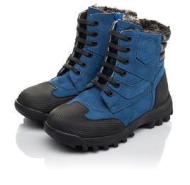 Детские зимние ботинки на меху Woopy Fashion синие для мальчиков натуральный нубук размер 23-30 (4461) Фото 3