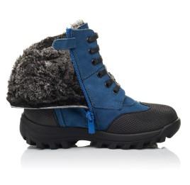 Детские зимние ботинки на меху Woopy Fashion синие для мальчиков натуральный нубук размер 23-30 (4461) Фото 5