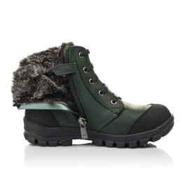 Детские зимние ботинки на меху Woopy Fashion зеленые для мальчиков натуральный нубук OIL размер 26-30 (4462) Фото 5