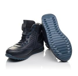 Детские демисезонные ботинки Woopy Fashion темно-синие для мальчиков  натуральная кожа размер 29-39 (4463) Фото 2