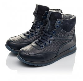 Детские демісезонні черевики Woopy Fashion темно-синие для мальчиков  натуральная кожа размер 29-39 (4463) Фото 3