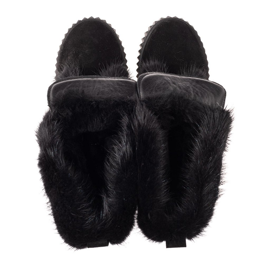 Детские зимние сапоги на меху Woopy Orthopedic черные для девочек натуральная замша размер 32-40 (4468) Фото 5