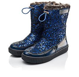 Детские зимние сапоги на меху Woopy Orthopedic синие для девочек натуральная кожа и нубук размер 23-38 (4469) Фото 3