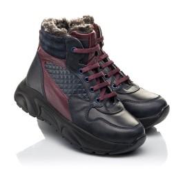 Детские зимние ботинки на меху Woopy Orthopedic синие для мальчиков натуральная кожа размер 27-33 (4470) Фото 1