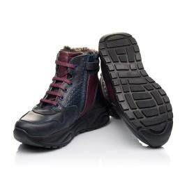 Детские зимові черевики на хутрі Woopy Orthopedic синие для мальчиков натуральная кожа размер 27-31 (4470) Фото 2
