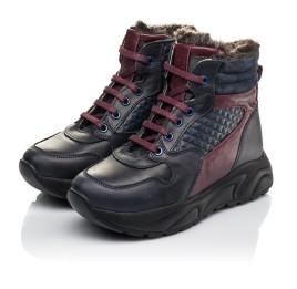 Детские зимові черевики на хутрі Woopy Orthopedic синие для мальчиков натуральная кожа размер 27-31 (4470) Фото 3
