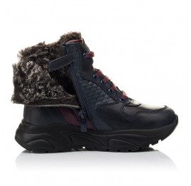Детские зимові черевики на хутрі Woopy Orthopedic синие для мальчиков натуральная кожа размер 27-31 (4470) Фото 5