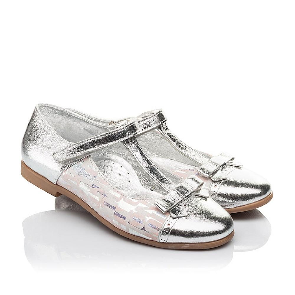 Детские туфли Woopy Orthopedic серебряные для девочек натуральная кожа размер 31-36 (4472) Фото 1