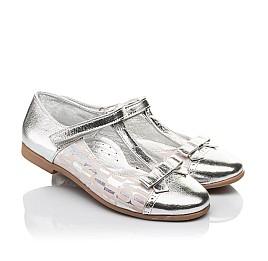 Детские туфлі Woopy Orthopedic серебряные для девочек натуральная кожа размер 31-36 (4472) Фото 1