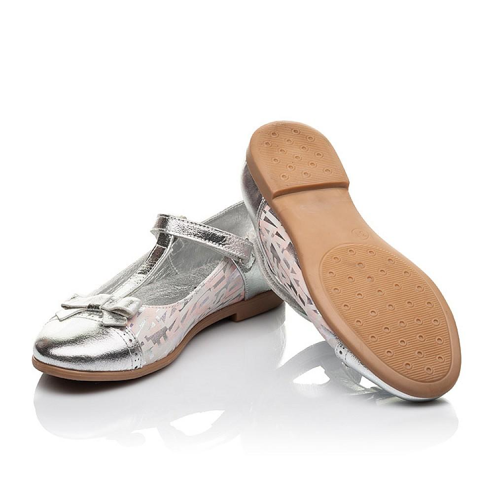 Детские туфли Woopy Orthopedic серебряные для девочек натуральная кожа размер 31-36 (4472) Фото 2