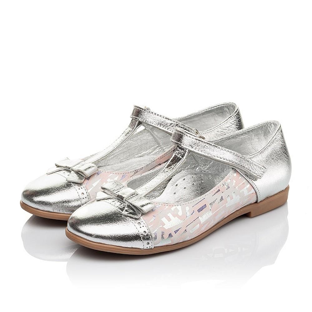 Детские туфли Woopy Orthopedic серебряные для девочек натуральная кожа размер 31-36 (4472) Фото 3