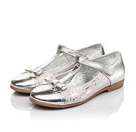 Детские туфлі Woopy Orthopedic серебряные для девочек натуральная кожа размер 31-36 (4472) Фото 3