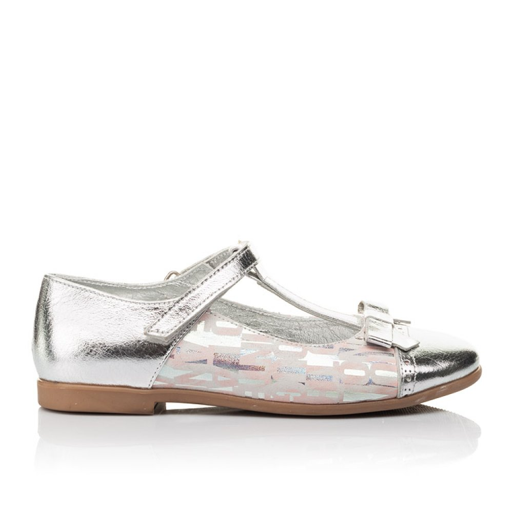 Детские туфли Woopy Orthopedic серебряные для девочек натуральная кожа размер 31-36 (4472) Фото 4