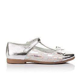 Детские туфлі Woopy Orthopedic серебряные для девочек натуральная кожа размер 31-36 (4472) Фото 4