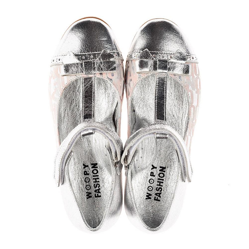 Детские туфли Woopy Orthopedic серебряные для девочек натуральная кожа размер 31-36 (4472) Фото 5