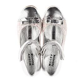 Детские туфлі Woopy Orthopedic серебряные для девочек натуральная кожа размер 31-36 (4472) Фото 5