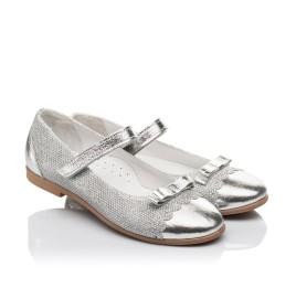Детские туфлі Woopy Orthopedic серебряные для девочек натуральная кожа, искусственный материал  размер 31-36 (4473) Фото 1