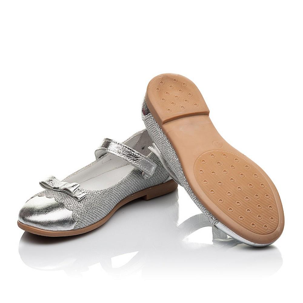 Детские туфли Woopy Orthopedic серебряные для девочек натуральная кожа, искусственный материал размер 31-36 (4473) Фото 2