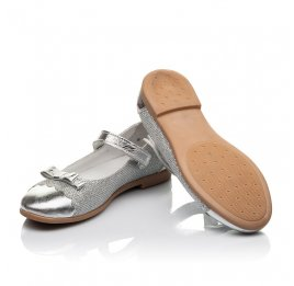 Детские туфлі Woopy Orthopedic серебряные для девочек натуральная кожа, искусственный материал  размер 31-36 (4473) Фото 2