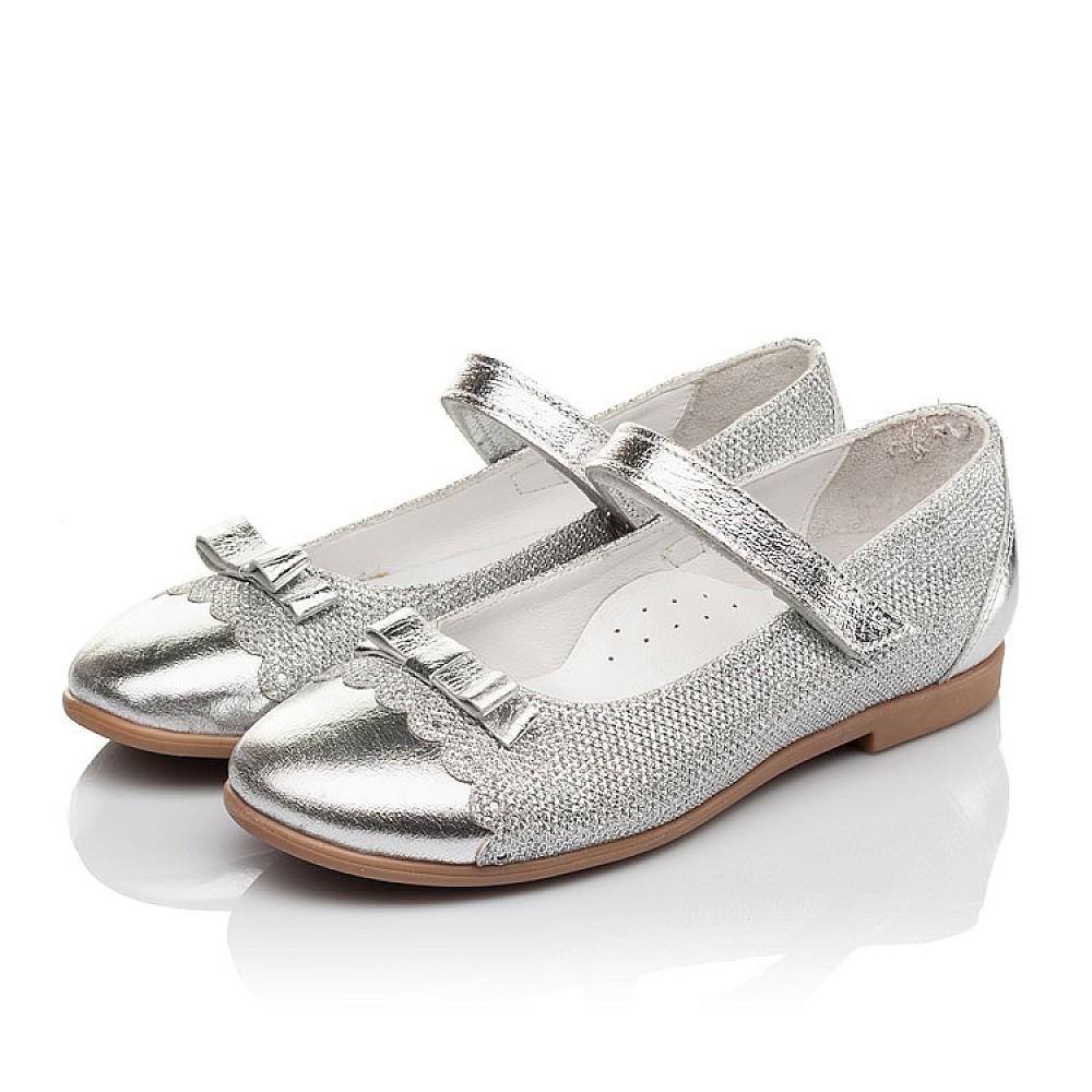 Детские туфли Woopy Orthopedic серебряные для девочек натуральная кожа, искусственный материал размер 31-36 (4473) Фото 3