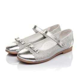 Детские туфлі Woopy Orthopedic серебряные для девочек натуральная кожа, искусственный материал  размер 31-36 (4473) Фото 3
