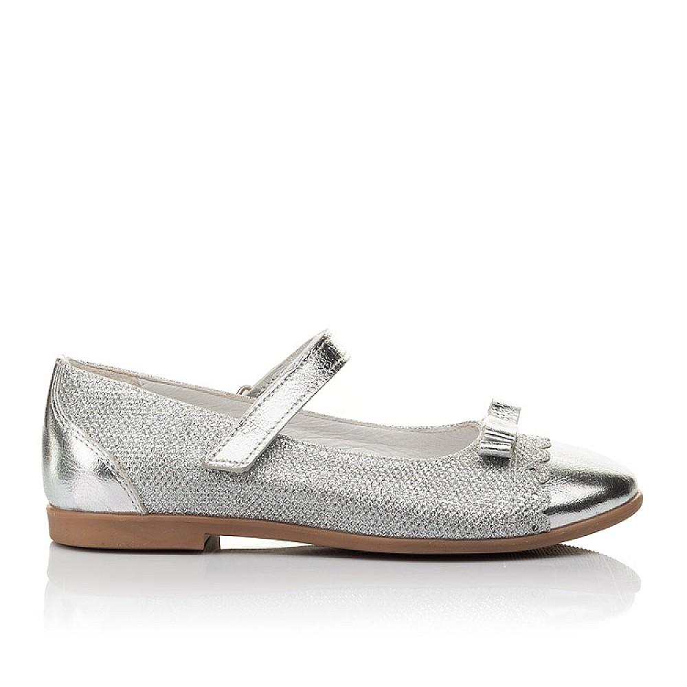 Детские туфли Woopy Orthopedic серебряные для девочек натуральная кожа, искусственный материал размер 31-36 (4473) Фото 4