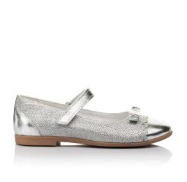 Детские туфлі Woopy Orthopedic серебряные для девочек натуральная кожа, искусственный материал  размер 31-36 (4473) Фото 4