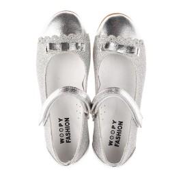 Детские туфлі Woopy Orthopedic серебряные для девочек натуральная кожа, искусственный материал  размер 31-36 (4473) Фото 5