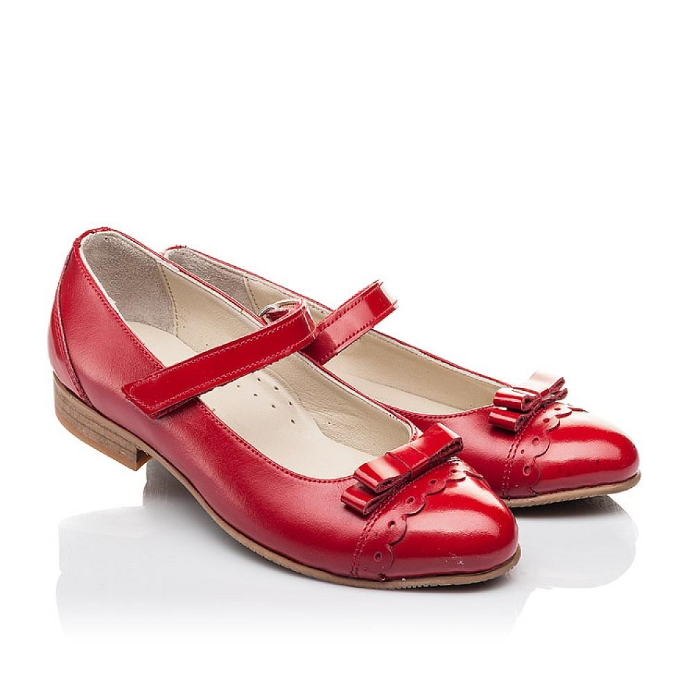 Детские туфли Woopy Orthopedic красные для девочек натуральная лаковая кожа, кожа размер 31-36 (4474) Фото 1