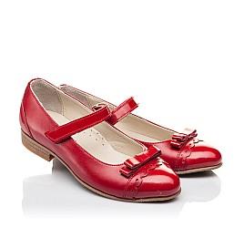Детские туфлі Woopy Orthopedic красные для девочек натуральная лаковая кожа, кожа размер 31-36 (4474) Фото 1