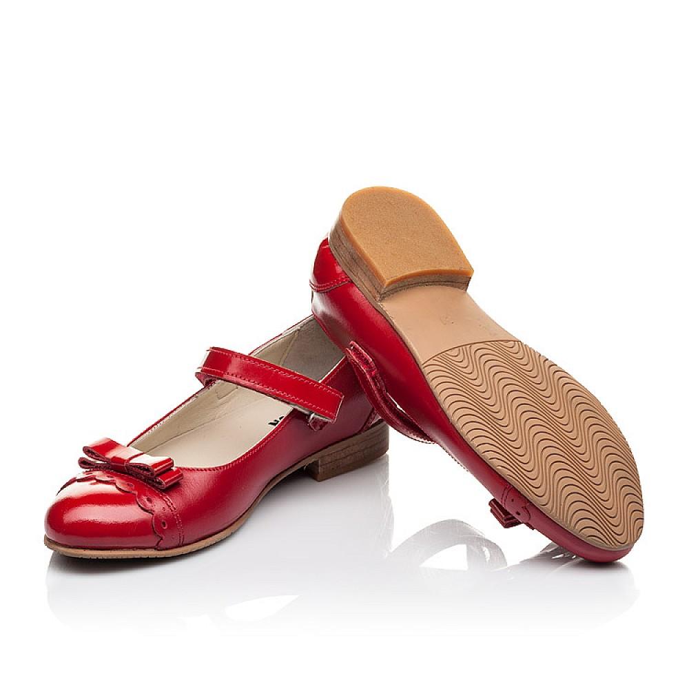 Детские туфли Woopy Orthopedic красные для девочек натуральная лаковая кожа, кожа размер 31-36 (4474) Фото 2