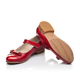 Детские туфлі Woopy Orthopedic красные для девочек натуральная лаковая кожа, кожа размер 31-36 (4474) Фото 2