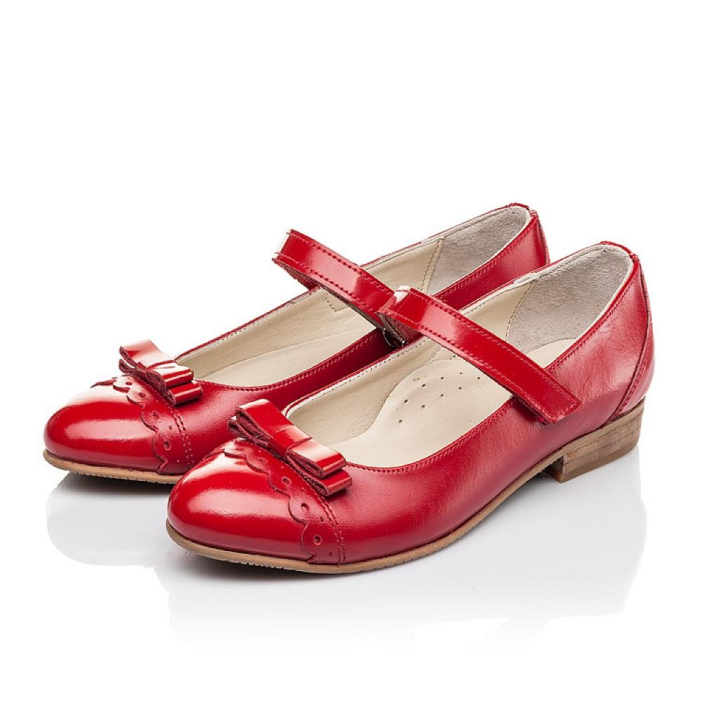 Детские туфли Woopy Orthopedic красные для девочек натуральная лаковая кожа, кожа размер 31-36 (4474) Фото 3
