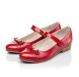Детские туфлі Woopy Orthopedic красные для девочек натуральная лаковая кожа, кожа размер 31-36 (4474) Фото 3