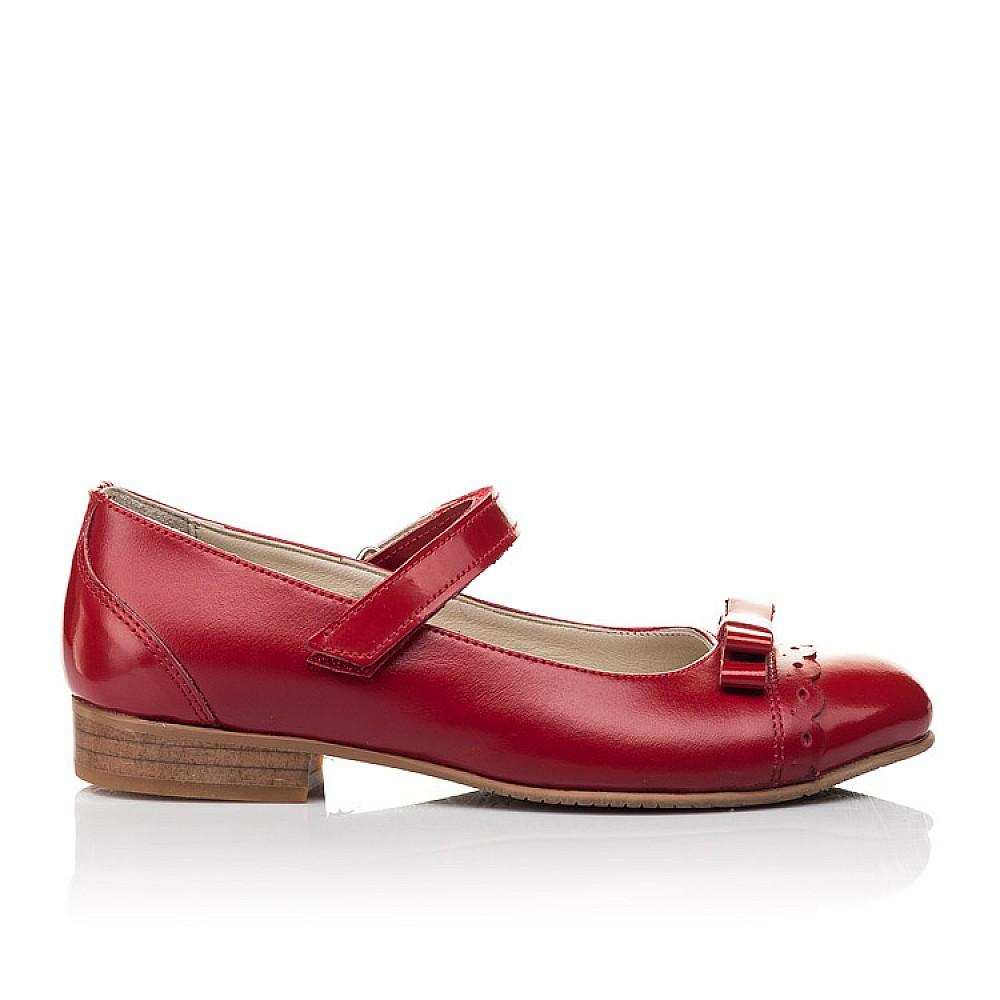Детские туфли Woopy Orthopedic красные для девочек натуральная лаковая кожа, кожа размер 31-36 (4474) Фото 4