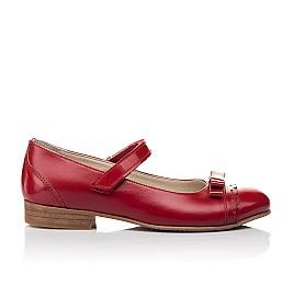Детские туфлі Woopy Orthopedic красные для девочек натуральная лаковая кожа, кожа размер 31-36 (4474) Фото 4