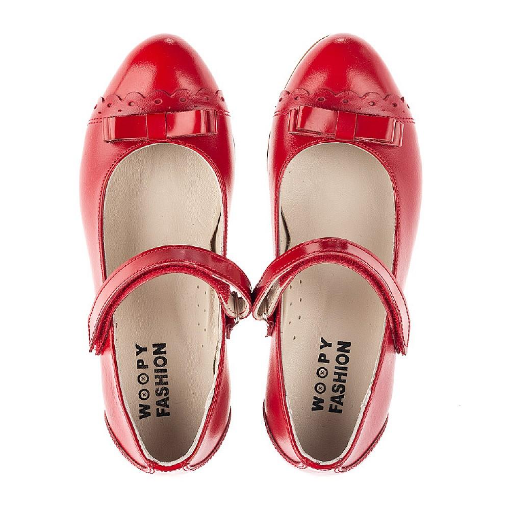 Детские туфли Woopy Orthopedic красные для девочек натуральная лаковая кожа, кожа размер 31-36 (4474) Фото 5