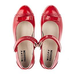 Детские туфлі Woopy Orthopedic красные для девочек натуральная лаковая кожа, кожа размер 31-36 (4474) Фото 5