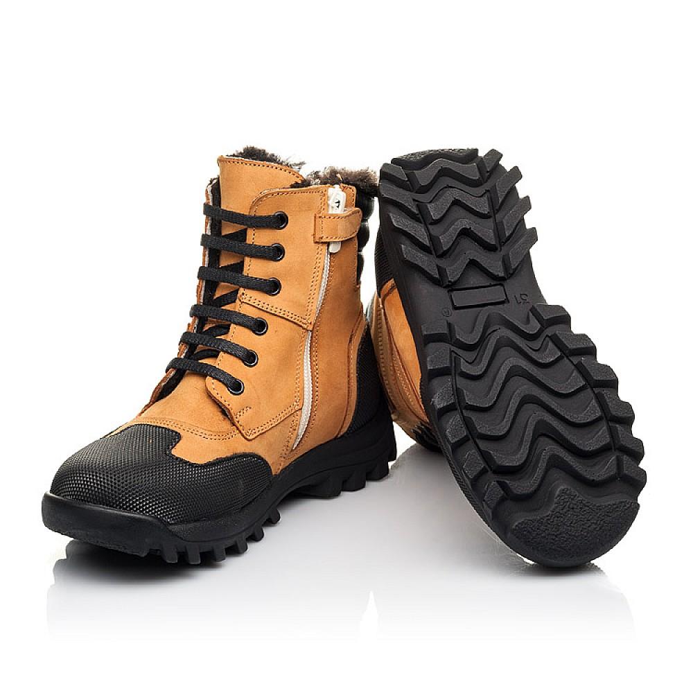 Детские зимние ботинки на меху Woopy Orthopedic рыжие для мальчиков натуральный нубук размер 23-36 (4475) Фото 2
