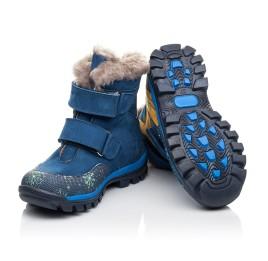Детские зимові черевики на хутрі Woopy Fashion синие для мальчиков натуральный нубук размер 23-33 (4476) Фото 2