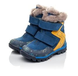 Детские зимние ботинки на меху Woopy Fashion синие для мальчиков натуральный нубук размер 23-33 (4476) Фото 3