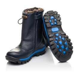Детские зимние сапоги на меху Woopy Fashion синие для мальчиков натуральная кожа размер 21-30 (4477) Фото 2