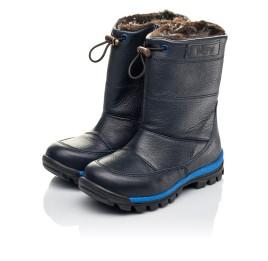 Детские зимние сапоги на меху Woopy Fashion синие для мальчиков натуральная кожа размер 21-30 (4477) Фото 3