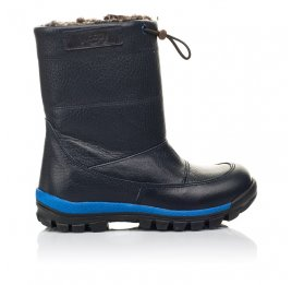 Детские зимние сапоги на меху Woopy Fashion синие для мальчиков натуральная кожа размер 21-30 (4477) Фото 4