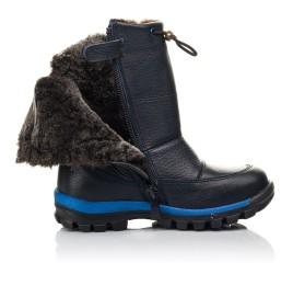 Детские зимние сапоги на меху Woopy Fashion синие для мальчиков натуральная кожа размер 21-30 (4477) Фото 5
