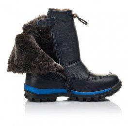 Детские зимові чоботи на хутрі Woopy Fashion синие для мальчиков натуральная кожа размер 21-30 (4477) Фото 5
