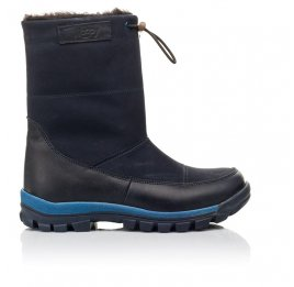 Детские зимние сапоги на меху Woopy Fashion темно-синие для мальчиков натуральная кожа и нубук размер 30-32 (4479) Фото 4