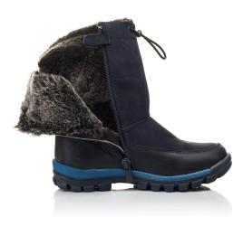 Детские зимние сапоги на меху Woopy Fashion темно-синие для мальчиков натуральная кожа и нубук размер 30-32 (4479) Фото 5